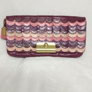 Authentic COACH Signature Clutch {Rare!!}